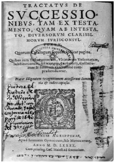Tractatus de successionibus, tam ex testamento, quam ab intestato /; Tractatus de testamentis et vltimis voluntatibus, vulgo Flores testamentorum /