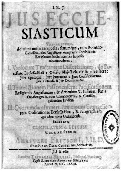 Jus ecclesiasticum tripartitum