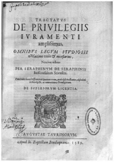 Tractatus de priuilegijs iuramenti amplissimus