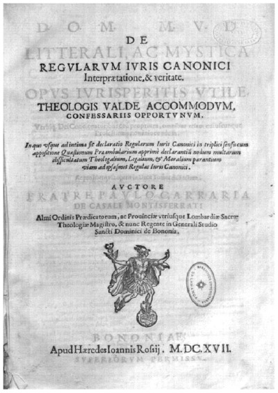 D.O.M. M.V.D. De litterali ac mystica regularum iuris canonici intepraetatione et veritate ...