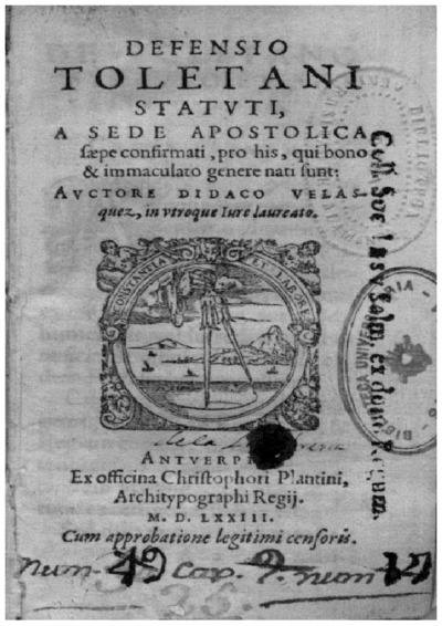 Defensio Toletani statuti a sede apostolica saepe confirmati pro his, qui bono et inmaculato genere nati sunt