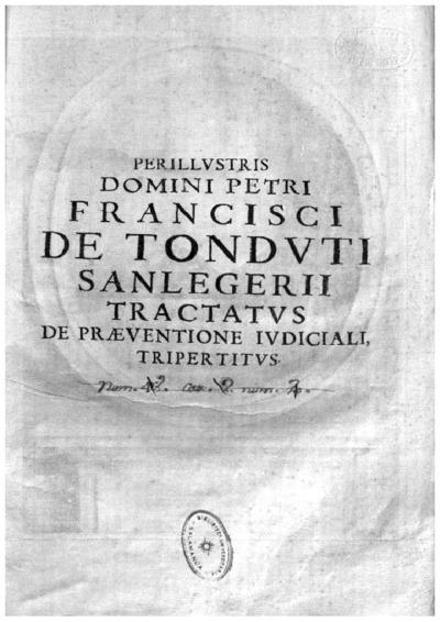 Tractatus de praeuentione iudiciali seu de contentione iurisdictionum