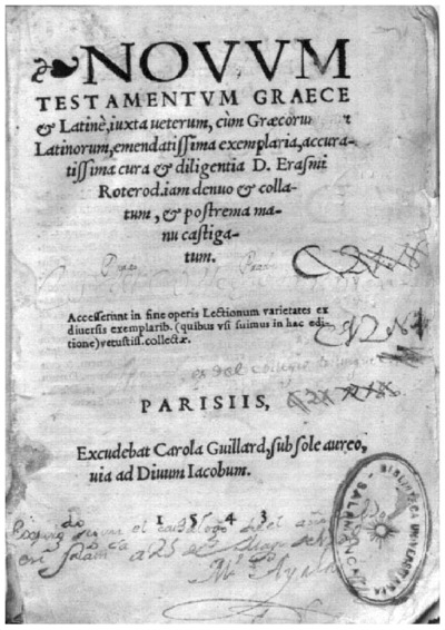 Nouum Testamentum Graece et Latinè; Biblia N.T Latín; Biblia N.T Griego