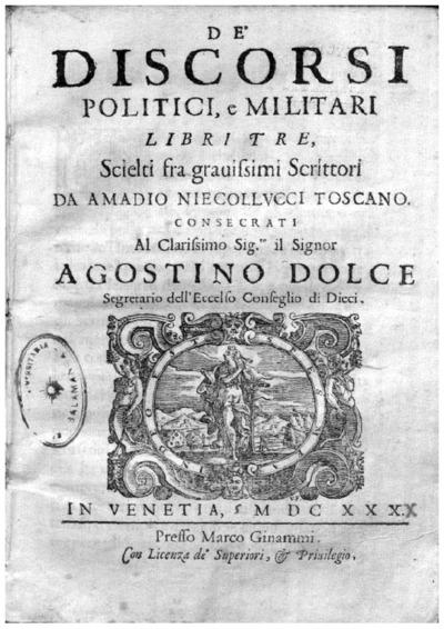 De' discorsi politici, e militari libri tre; Discorsi sopra la prima deca di Tito Livio