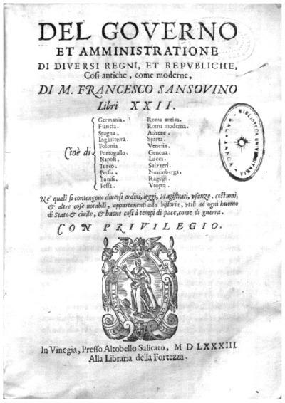 Del governo et amministratione di diuersi regni et republiche, cosi antiche, come moderne