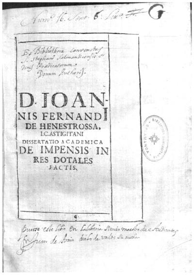 Dissertatio academica quam in scholasticam iuris Caesarei disciplinam digerebat