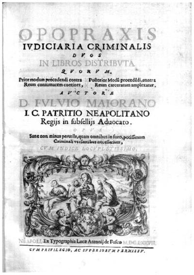 Opopraxis iudiciaria criminalis duos in libros distributa