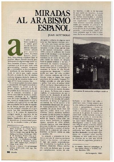 Miradas al arabismo español