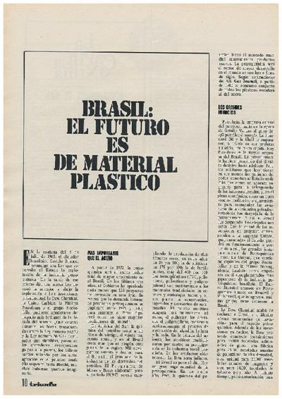 Brasil: el futuro es de material plástico