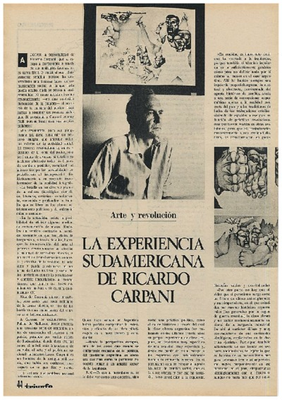 La experiencia sudamericana de Ricardo Carpani