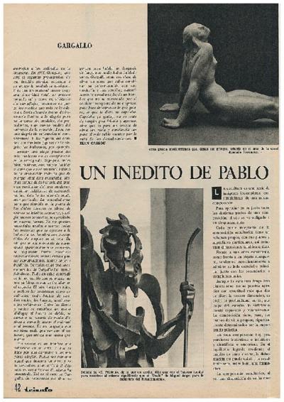 Un inédito de Pablo Gargallo