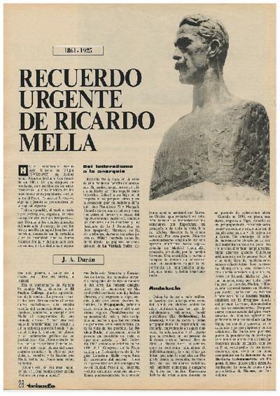 Image from object titled 1861-1925: recuerdo urgente de Ricardo Mella