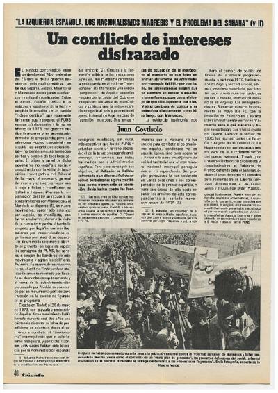 """""""La izquierda española, los nacionalismos magrebis y el problema del Sahara"""". II"""