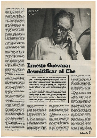 Ernesto Guevara: desmitificar al Ché