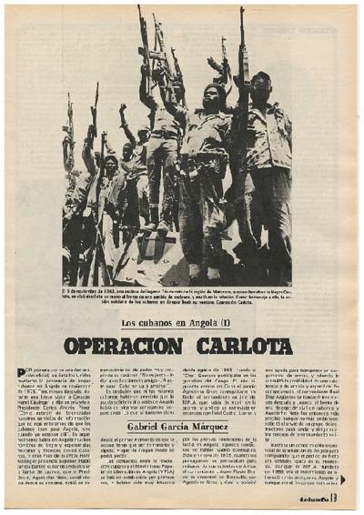 Los cubanos en Angola (I): Operación Carlota