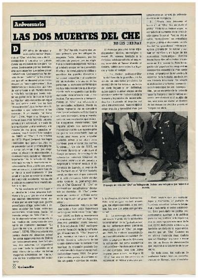 Las dos muertes del Che