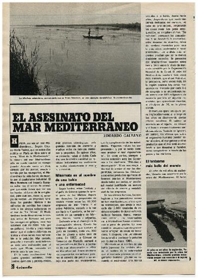 El asesinato del mar mediterráneo