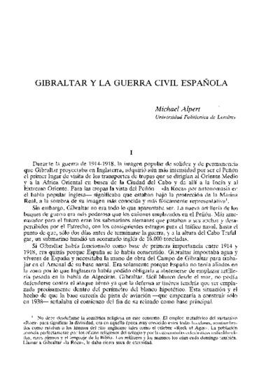 Gibraltar y la Guerra Civil española