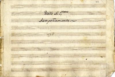 Cuatro al Santísimo [con violines y violón]. [Mortales desterrados]