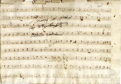 [Villancico] a cuatro al Santísimo con violines y trompas. Excelsa fortuna