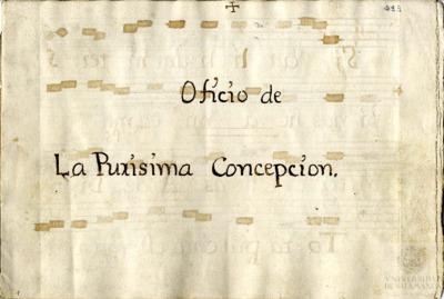 Oficio de la Purísima Concepción