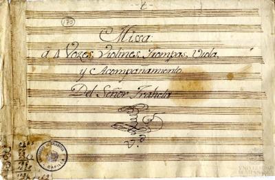 Misa a cuatro voces con violines, trompas, viola y acompañamiento
