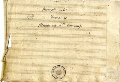 Acompañamiento a los Himnos y Motetes de Santo Domingo