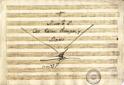 Misa a cuatro con violines, trompas y bajo