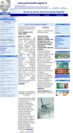 Zavod za javno zdravstvo dr. Andrija Štampar : Institute of Public Health; Zavod za javno zdravstvo grada Zagreba; Institute of Public Health; WWW.stampar.hr
