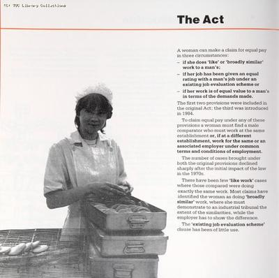 'Equal pay for work of equal value guidelines', 1988