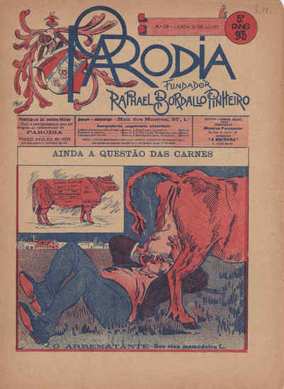 A Paródia, Sexta, 21 de Julho de 1905, Ano 5, nº 129