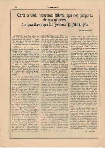 A Paródia, Sábado,  1 de Dezembro de 1906, Ano 6, nº 171