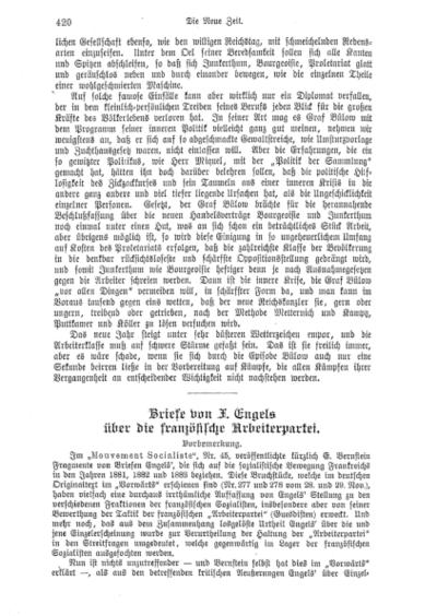 Briefe von F. Engels über die französische Arbeiterpartei
