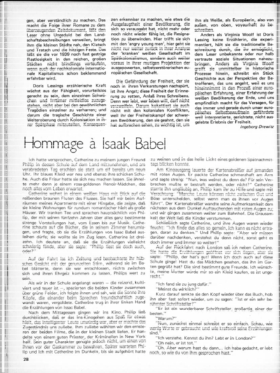 Hommage à Isaak Babel