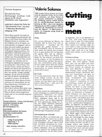 Cutting up men