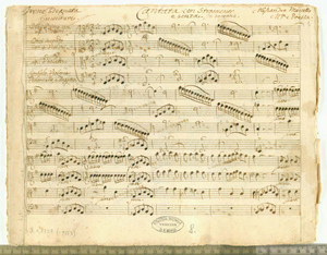 """Irene sdegnata (""""Irene sdegnata / Ouverture. Cantata con Stromenti / e senza. In soprano. / Alessandro Marcello / M.ca e Poesia"""")"""