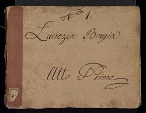 Image from object titled Lucrezia Borgia; 'titolo uniforme:' Lucrezia, Borgia