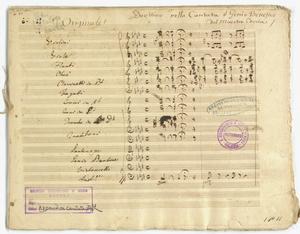 Duettino nella Cantata il Genio Benefico / Originale del Maestro Coccia [MANOSCRITTO]