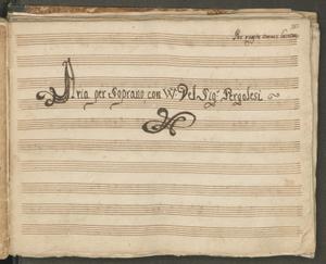 Per queste amare lacrime | Aria per soprano, con VV. Del Sig.r Pergolesi