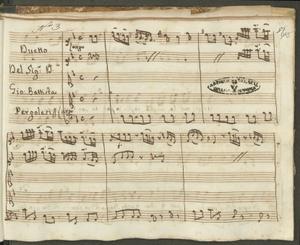 Duetto | Del Sig:r D. | Gio: Battista | Pergolesi