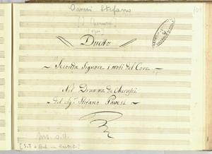 Duetto/Seconda Signore i moti del Core/Nel Dramma de Cherusci/del Sig.r Stefano Pavesi [MANOSCRITTO]