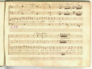 Recitativo e Aria Del Sig. David Perez [MANOSCRITTO]