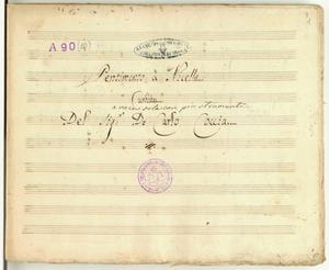 Pentimento a Nicella / Cantata / Del Sig.r D.Carlo Coccia [MANOSCRITTO]