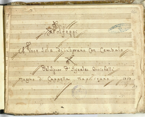 Solfeggi/A voce Sola di Soprano con Cembalo/Del Signor D.Pascale Errichelli/Maestro di Cappella napolitano [MANOSCRITTO]
