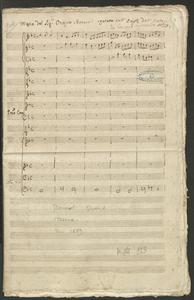 Messa del Sig.r Orazio Benevoli copiata sull'Orig.le dell'Autore | da Giuseppe Sigismondo