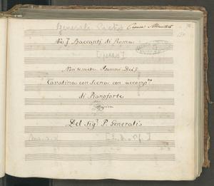 Ne i Baccanti di Roma | Non temete. I sommi Dei | Cavatina con Scena con accom.to | di Pianoforte | Musica | Del Sig.r P.Generali