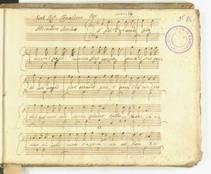 del Sig.r Cavaliere/Allesandro Scarlatti [MANOSCRITTO]