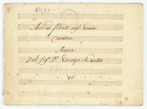 Non vi fidate agl'Uomini / Cavatina / Musica / Del Sig.r D.n Vincenzo Pucitta / N.6 [MANOSCRITTO]