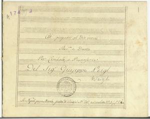 Ah! Spiegarti oh Dio vorrei / Rec.vo e Duetto / Per Cembalo o Pianoforte / Del Sig.r Giuseppe Veigl [MANOSCRITTO]