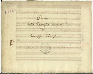 Duetto / della Famiglia Svizzera / di / Giuseppe Weigl [MANOSCRITTO]